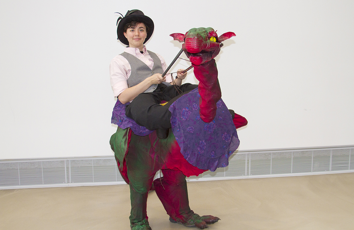 Student Amanda with her Puppet