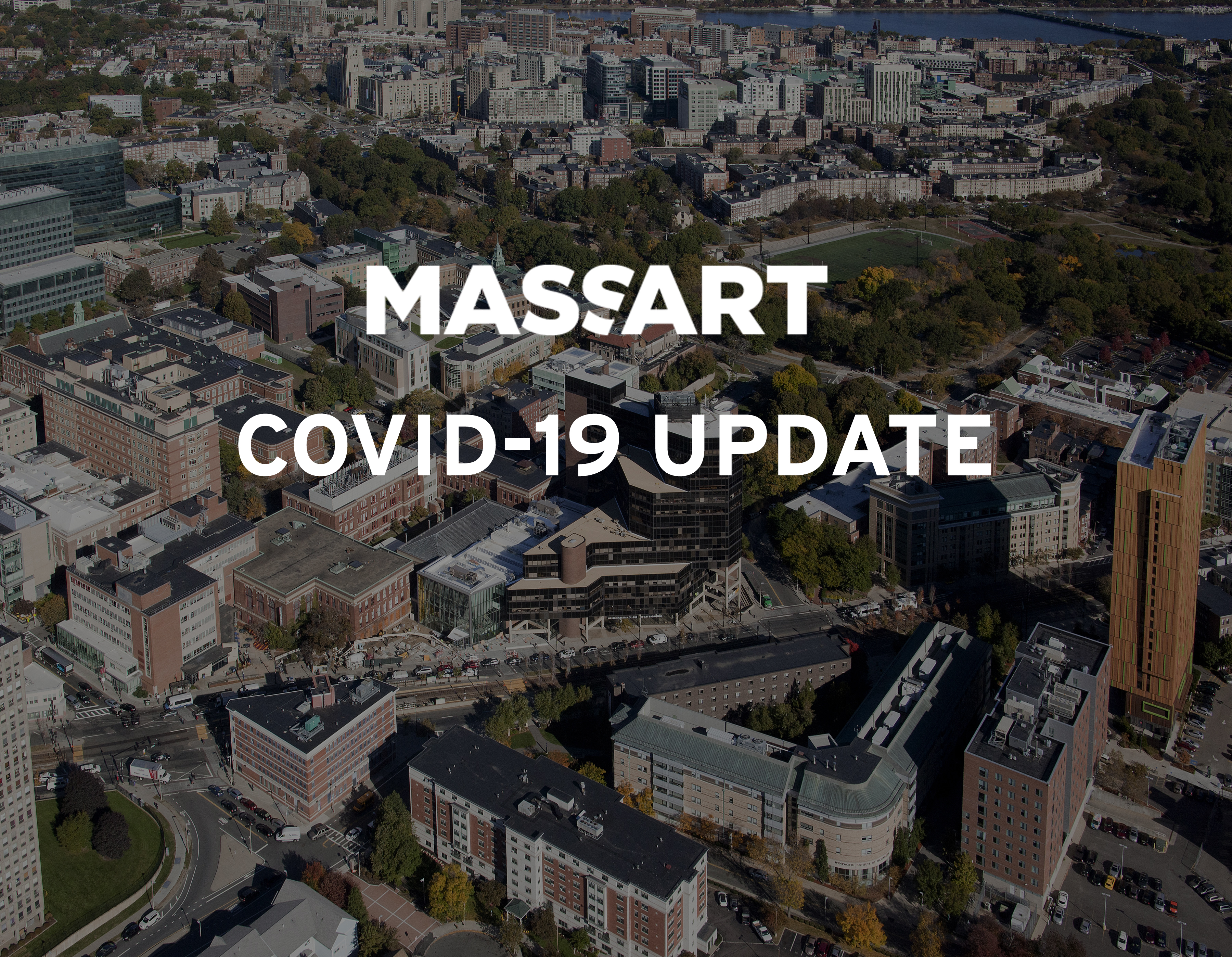 MassArt Aerial View with Covid-19 Update