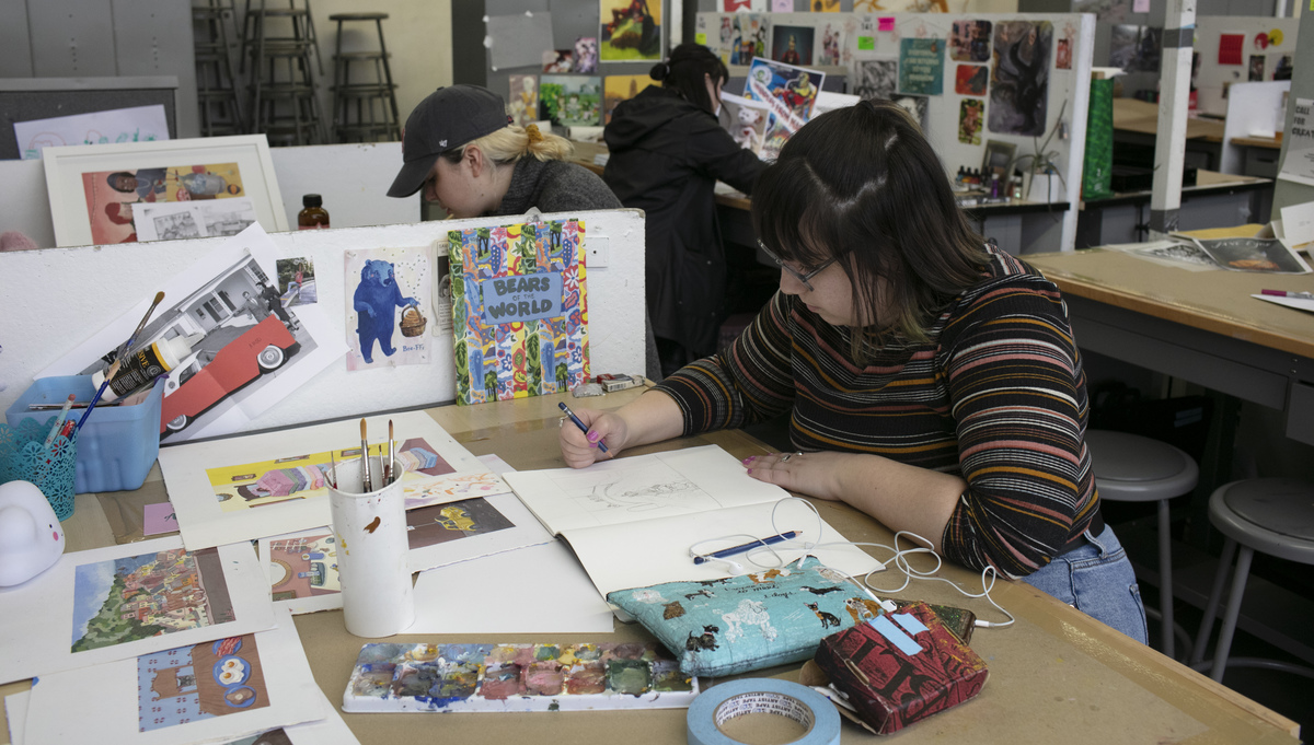 Illustration students