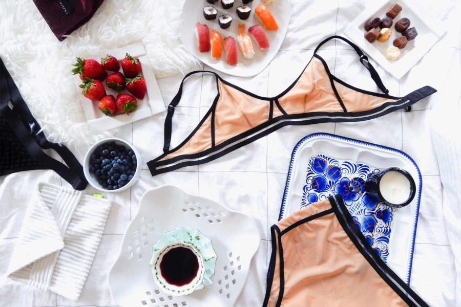 Masha Titova's lingerie featured in Exhale Lifestyle