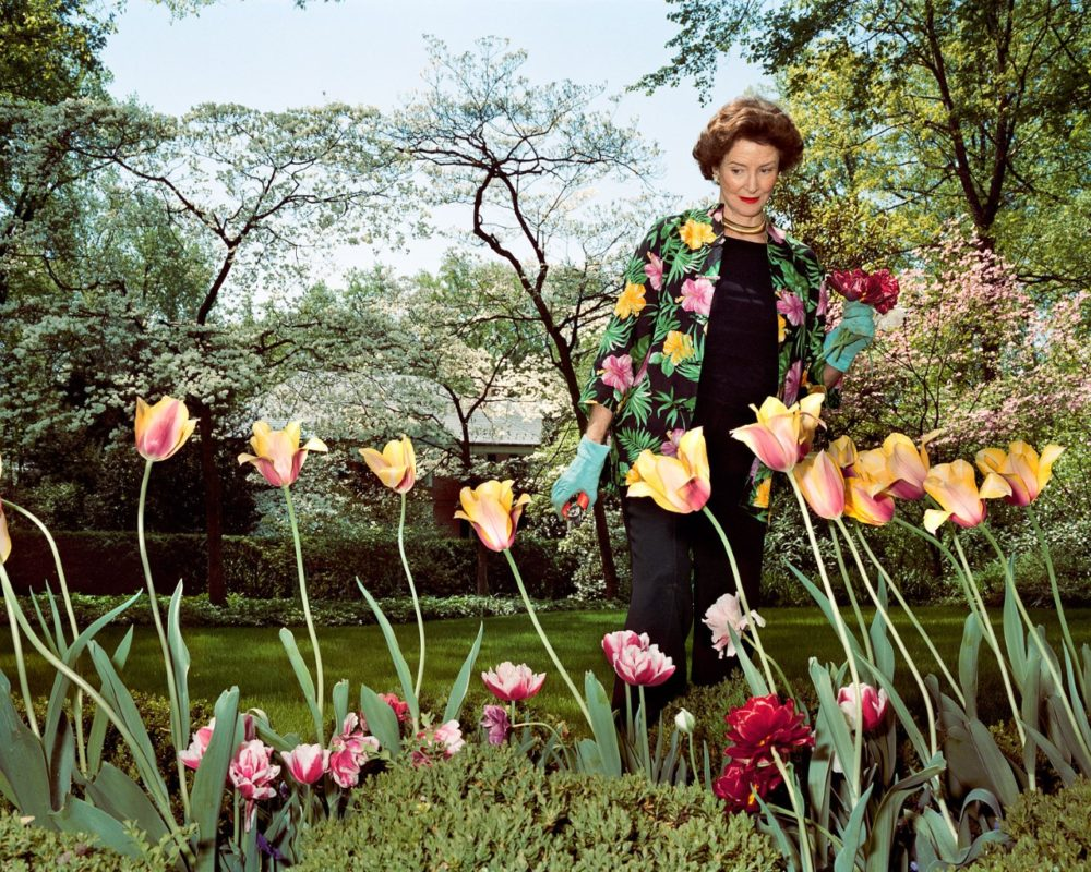 "Sage Sohier, ""Mum in her garden, Washington D.C.,"" 2003, from WBUR"