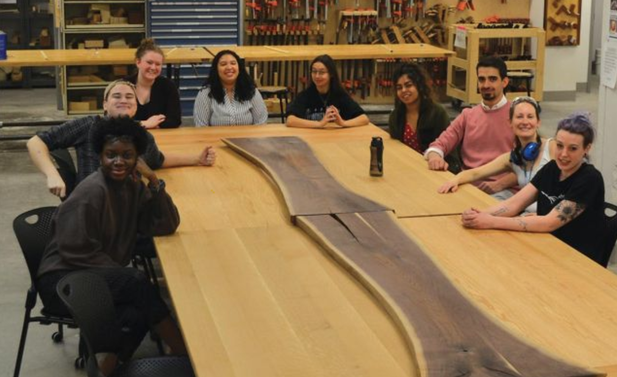MassArt furniture design students