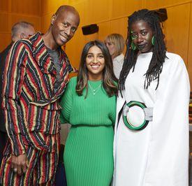 From left: James Mason, Nourah Alotaishan, and Najah Charles at LUCID.(KELLY DAVIDSON STUDIO)
