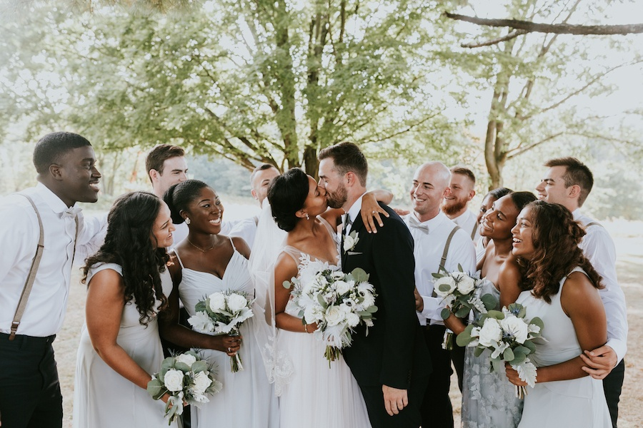 Interracial wedding