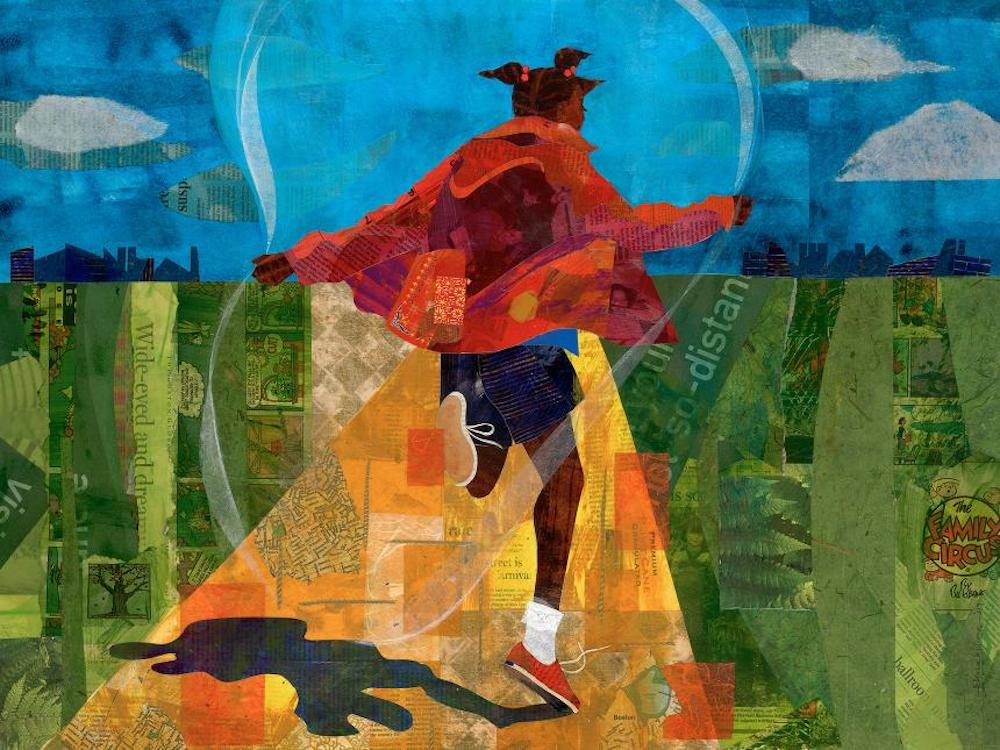 "Ekua Holmes, ""Golden,"" 2009. (Courtesy of the artist)"