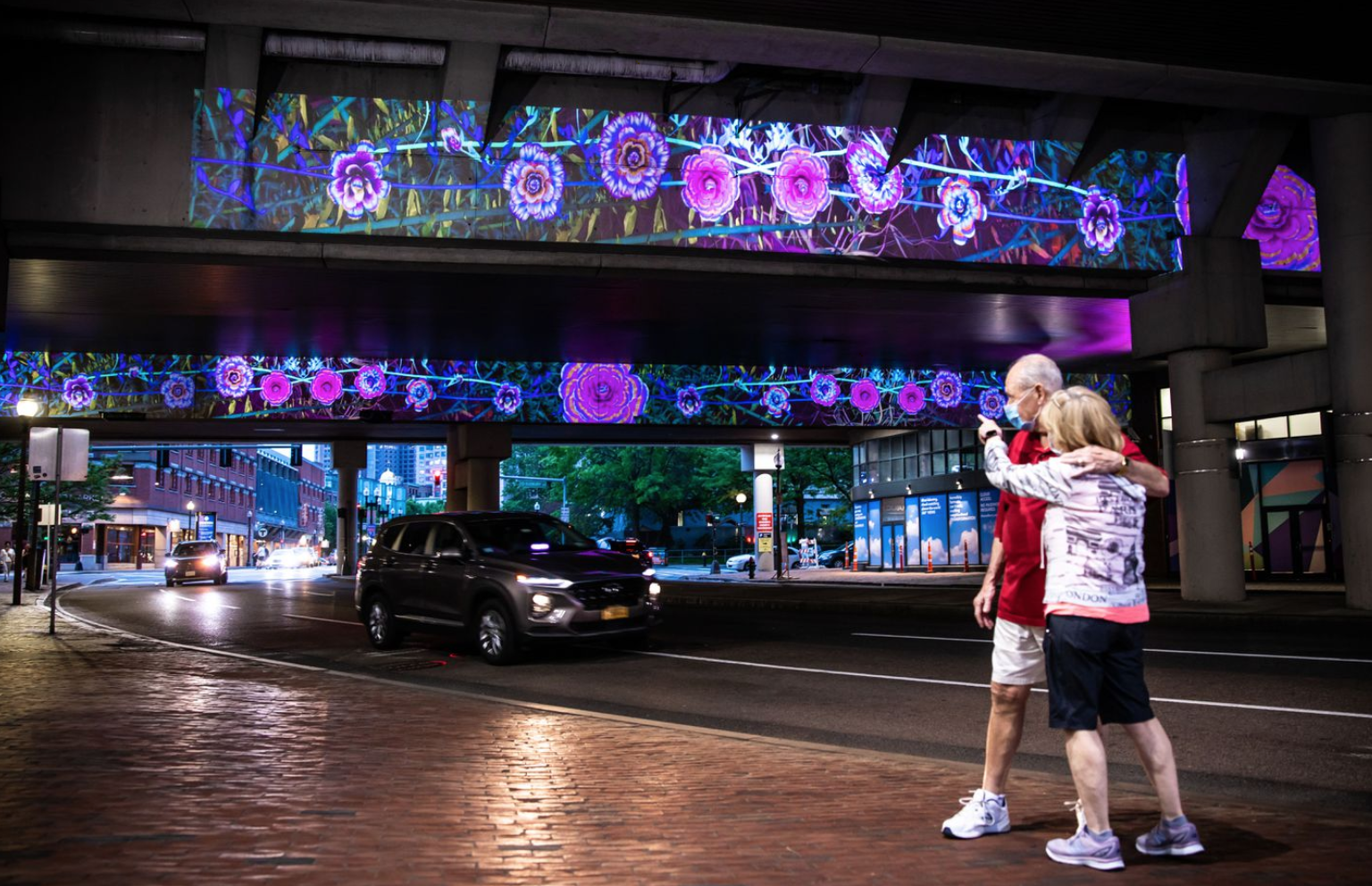 """City Bloom,"" a public light installation near Government Center, will remain on display through 2020.ARAM BOGHOSIAN""City Bloom,"" a public light installation near Government Center, will remain on display through 2020.ARAM BOGHOSIAN"