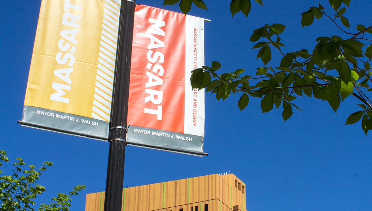 MassArt Flag Poles