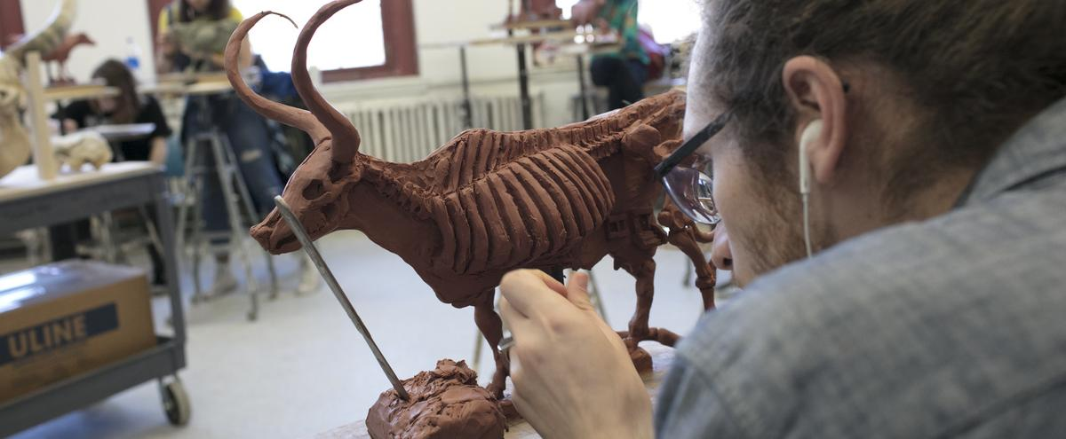 Sculpture student
