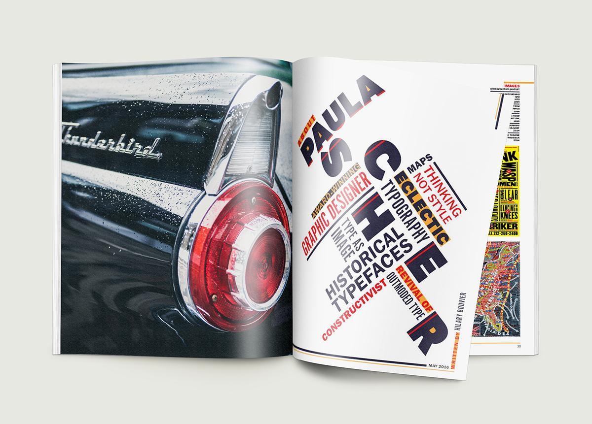 Hilary Bouvier - Paul Scher Magazine Layout