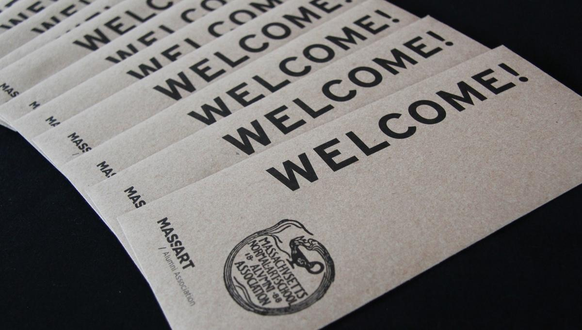 Welcome envelopes at the 2019 alumni welcome