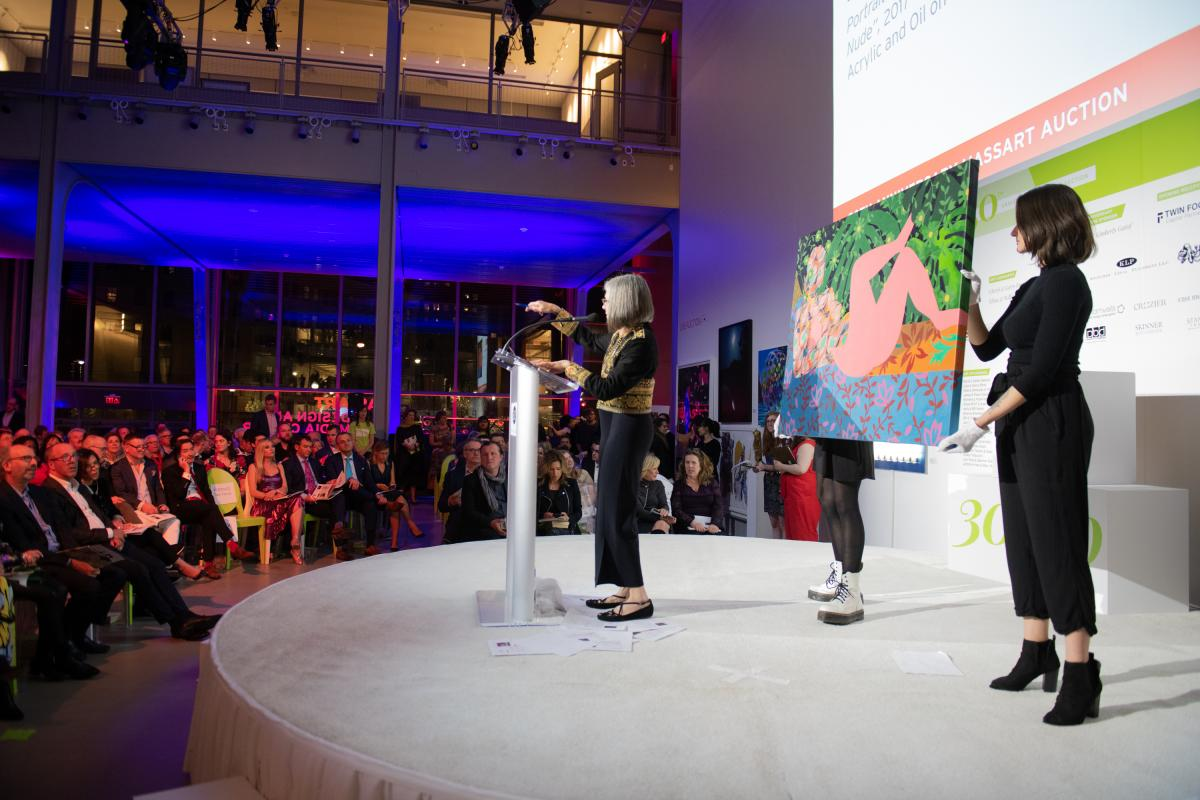 30th Anniversary MassArt Auction Photo of Dinora Justice Live Auction