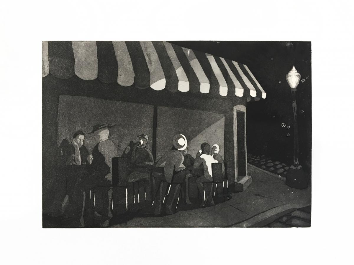 Diner Scene, Dominique Litif-Nelson