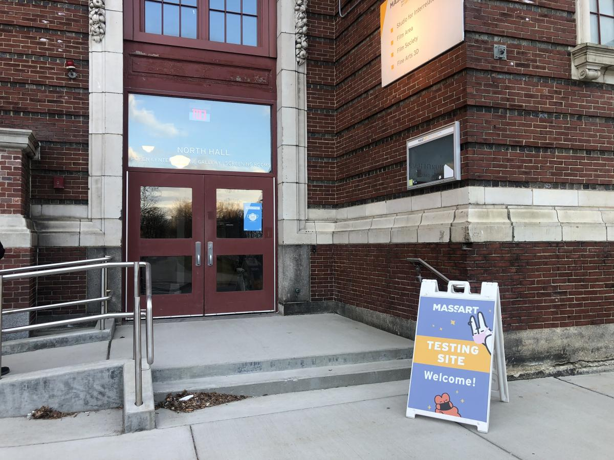 Covid Test Site on MassArt's campus