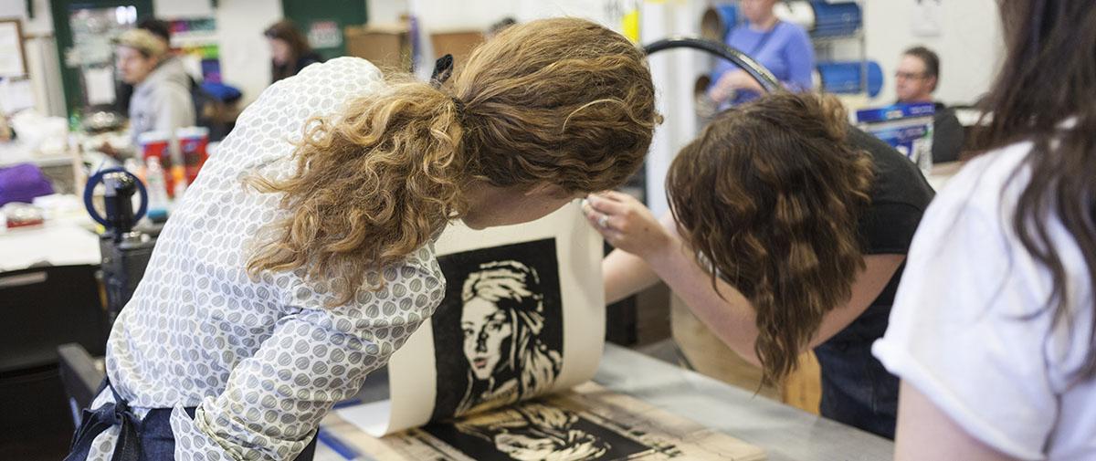 Students at Iron Print
