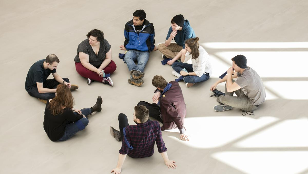 Student Group in the Design and Media Center