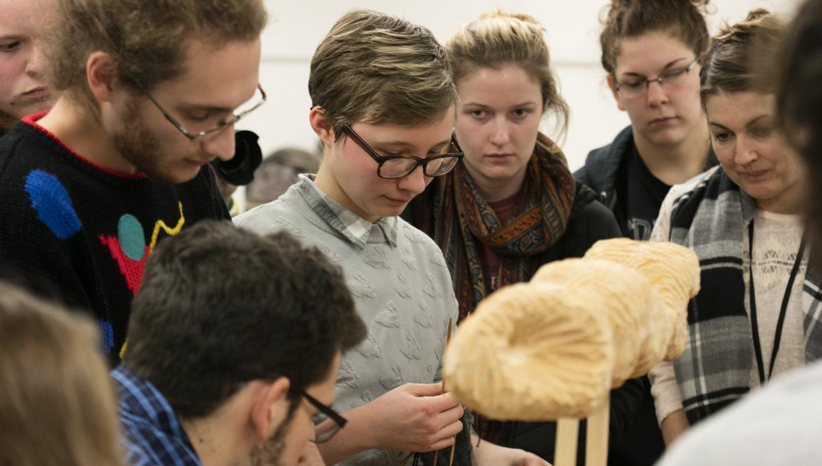 Sculpture students