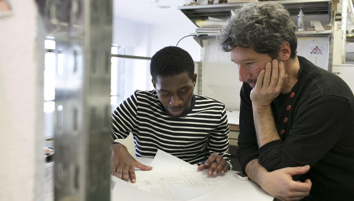 Architecture student with Paul Hajian