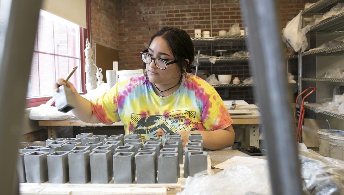 Ceramic student
