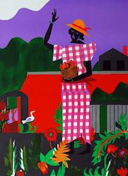 Romare Bearden - Girl in the Garden
