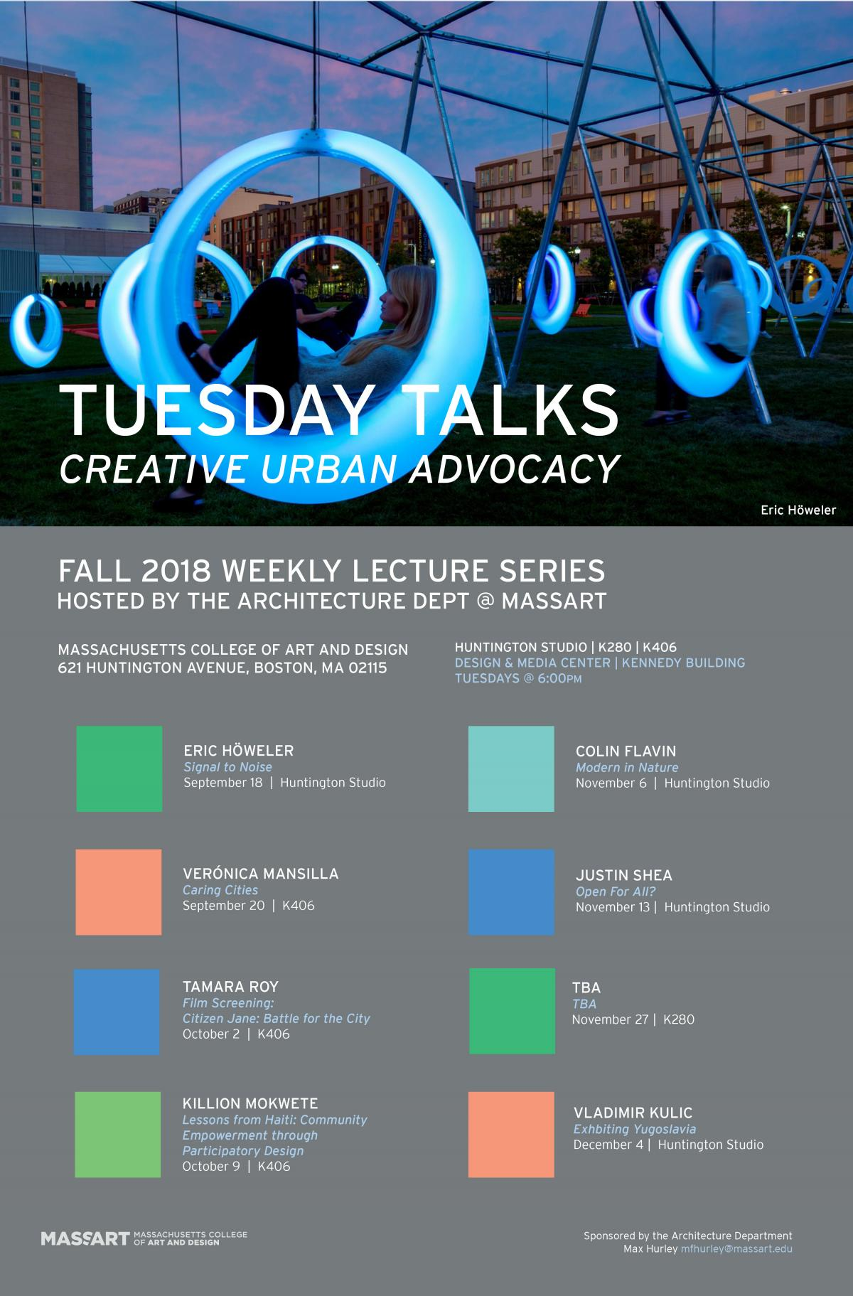 Fall 2018 Tuesday Talks Poster