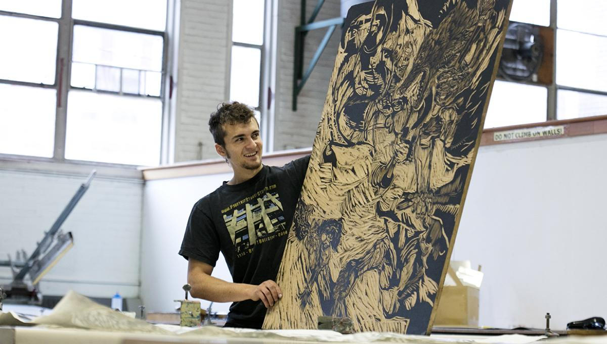Pedro Ormazo student, Printmaking