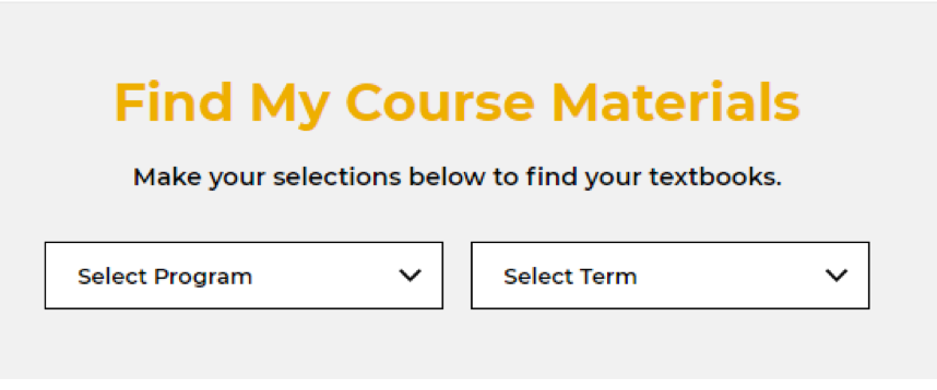 Find Course Materials