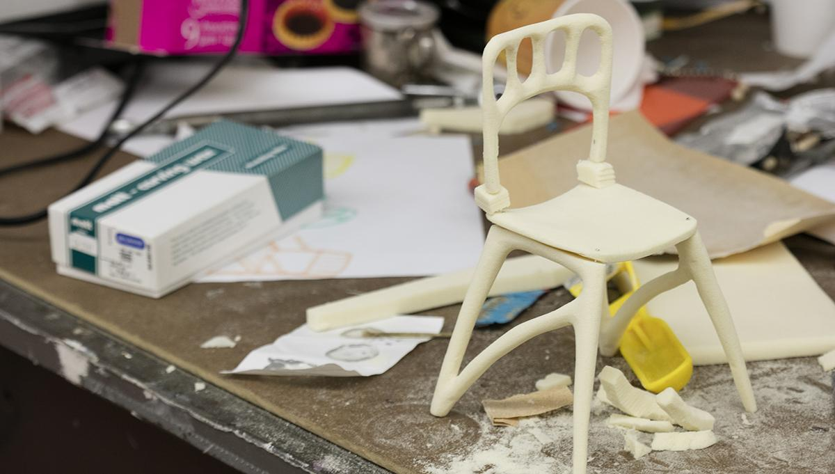 Prototype of chair created in Industrial Design