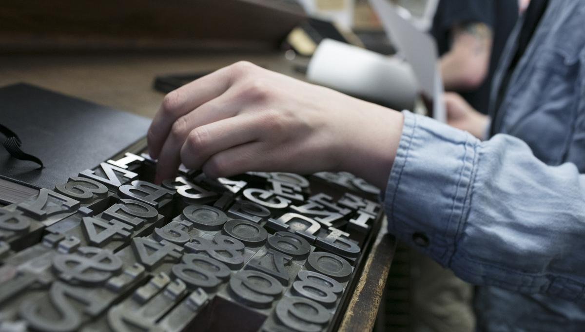 Hands and Letterpress