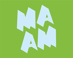 MassArt Art Museum Logo in Green and Blue