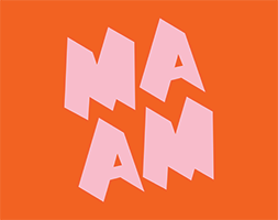 MassArt Art Museum Logo in Orange and Pink