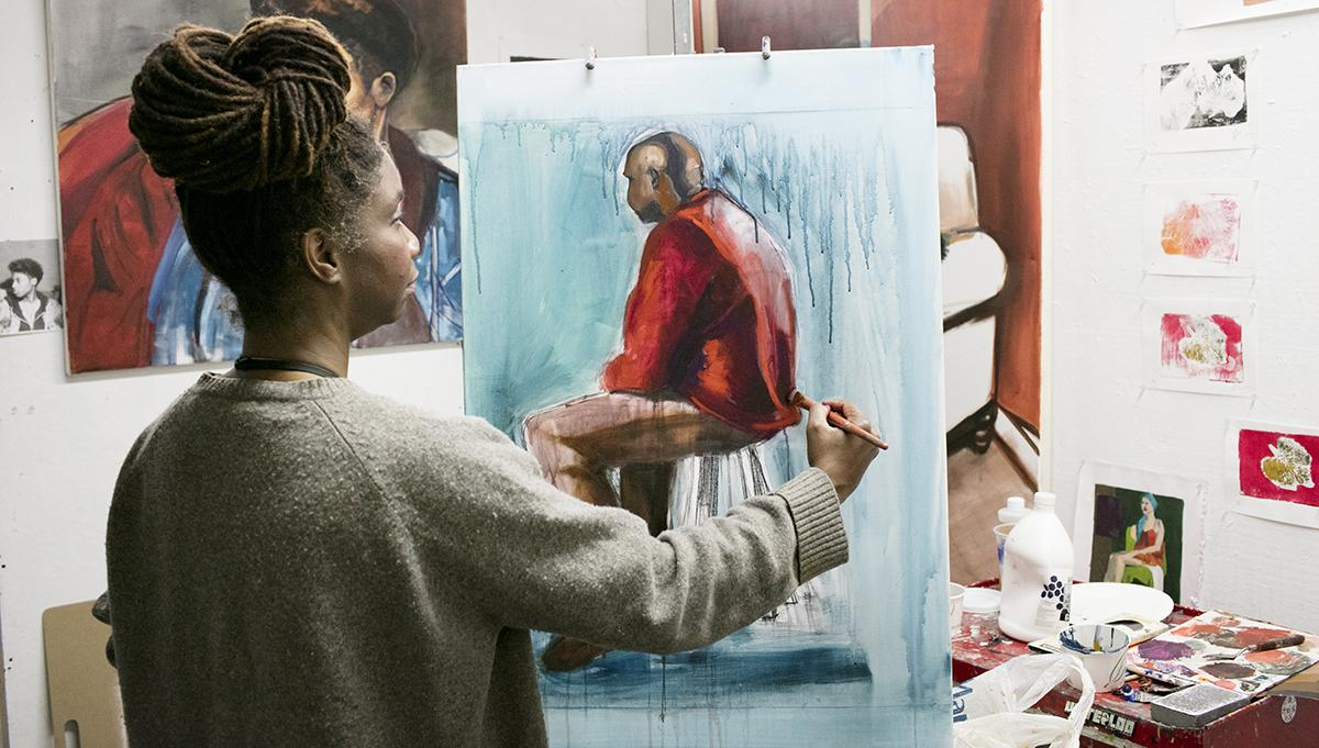 Painting Grad Student