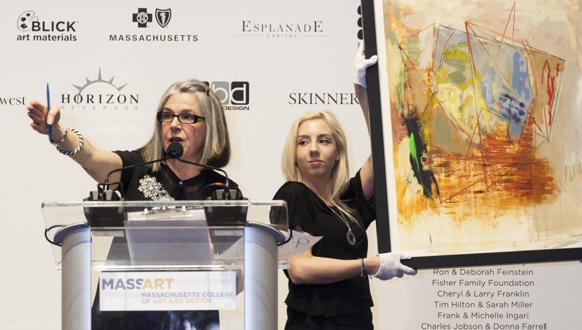 Karen Keane with Auction art