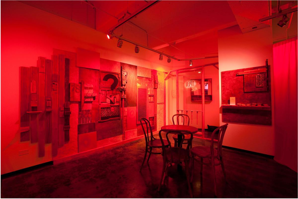"""The Red Room,"" photo of the installation"