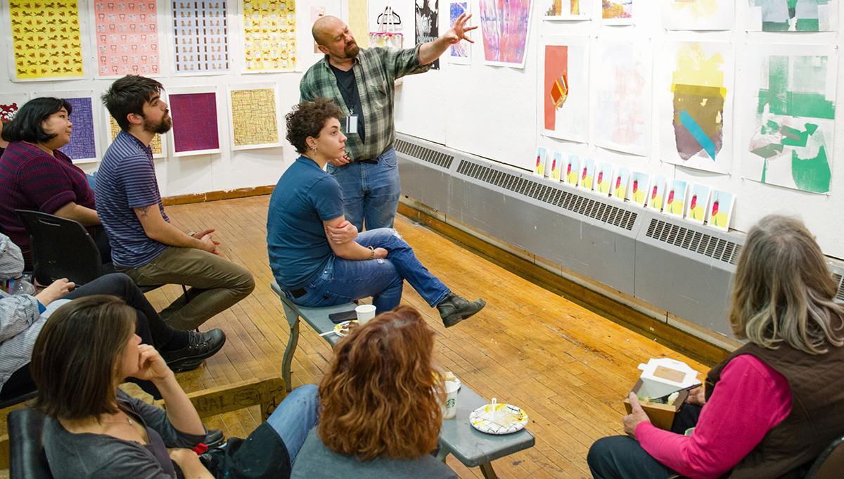 Alvin Ouellette printmaking course