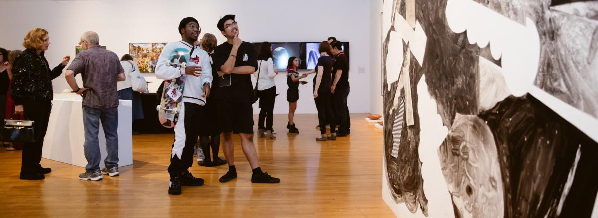 Visitors in Selections Exhibition