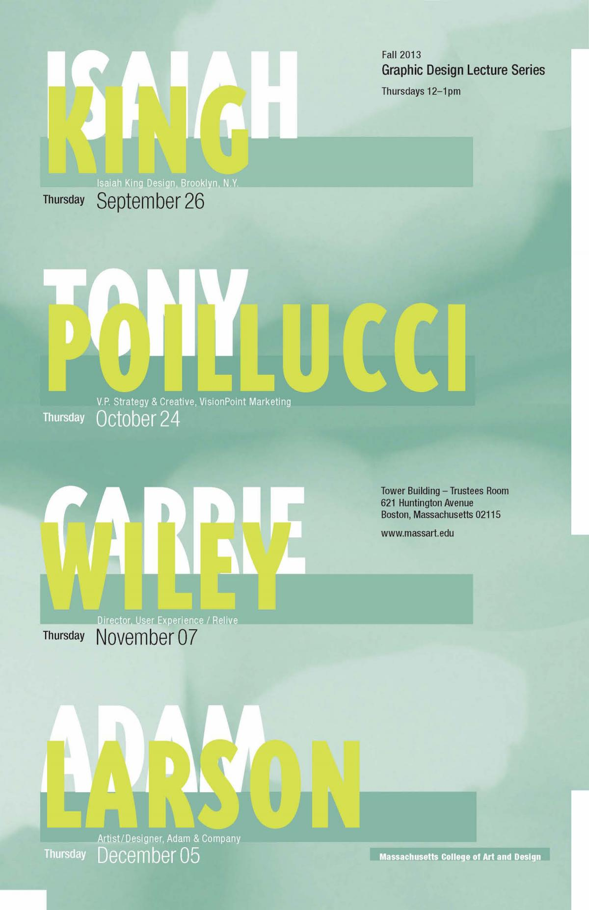 Graphic Design Lecture Series Poster Massart