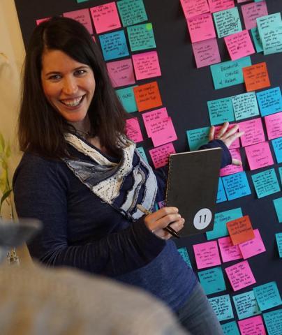 Jennifer Comstock at work