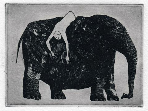 """E"" is for Elephants by Edward Gorey"
