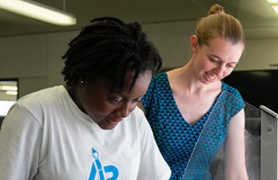 Alice Stanne with Artward Bound student