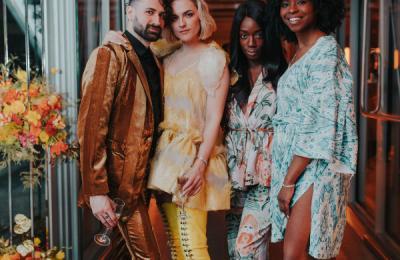 Nick Grieco, musician; Erin Robertson, fashion designer; Kinesha Goldstein, owner of Cameo Macaron; and Vianca Sanae, blogger