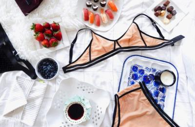 Masha Titova's lingerie featured in Exhale Lifestyle