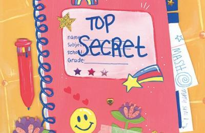 "Artwork by Illustration alumna Abby Ouellette of a ""Top Secret"" notebook"