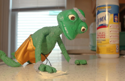 A still from Megan DiTullio's assignment for Hayley Morris's stop-motion animation class at MassArt.