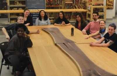 MassArt furniture design students
