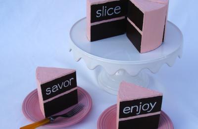 """""""Slice, Savor, Enjoy"""" cake from Julie Shaw Lutts"""