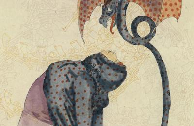 Untitled (Woman/Dragon)