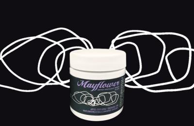 Stuti Goyal's artwork on a Mayflower cannabis product
