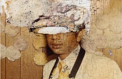 """Image: Eduardo L Rivera, untitled, from the series """"Uno, """"unique print, 3.5in x 5in, 1972, Rivera archives"""