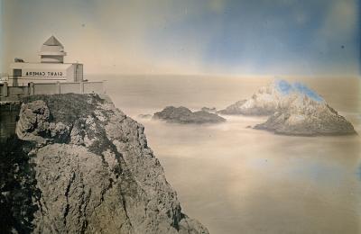 "Binh Danh, Giant Camera and Seal Rocks, daguerreotype, 10"" x 8"", 2014"