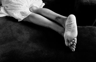 Image: Hannah Price, Sarah's Feet, 2013, from the Semaphore series